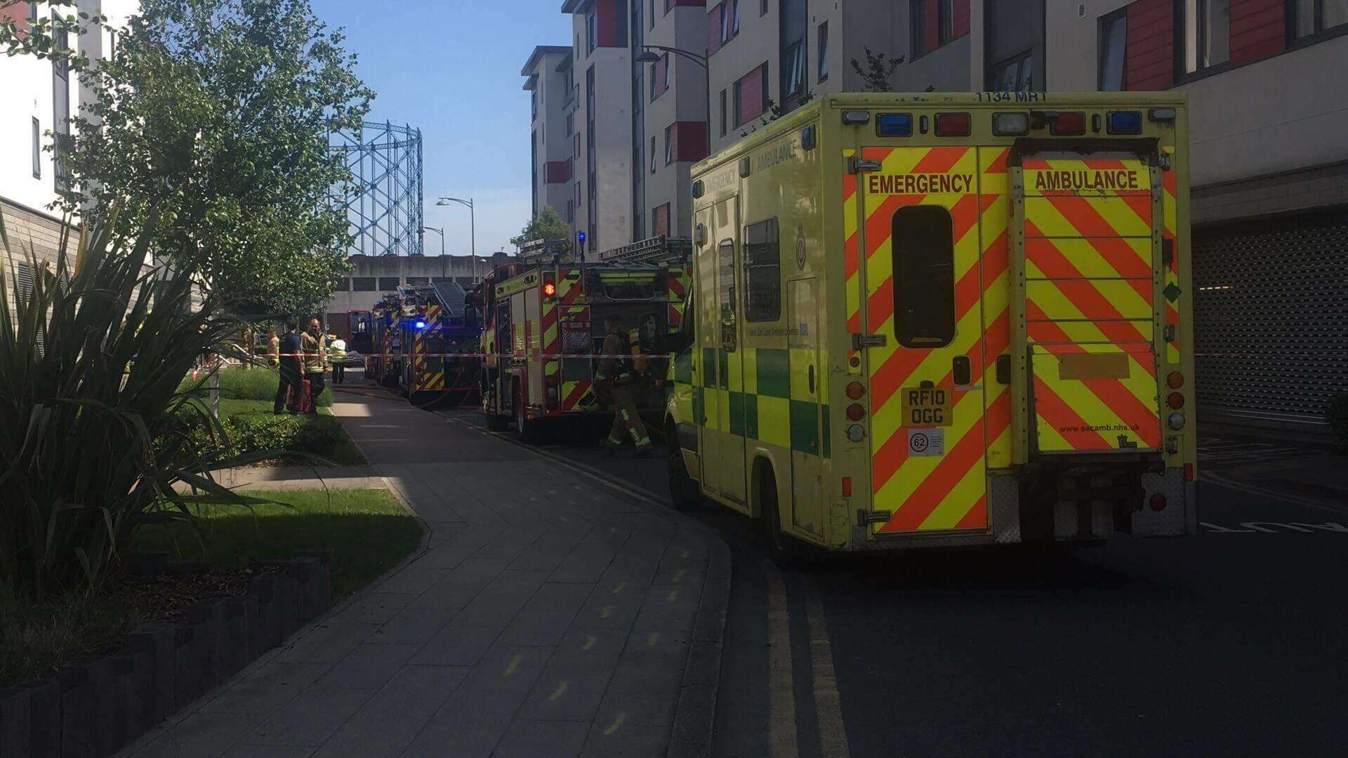Emergency services at Liberty Quays (2057225) Credit: Shabir Noorzai