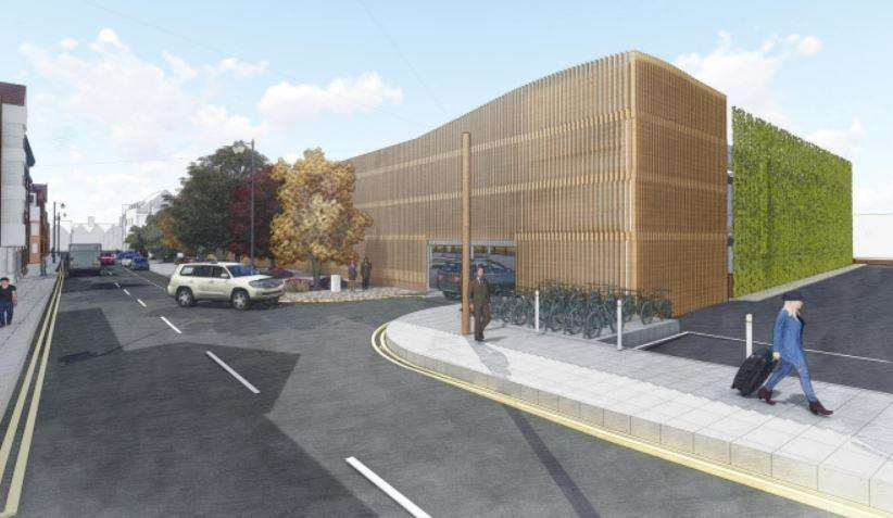 How the multi-storey car park in Station Road West would look