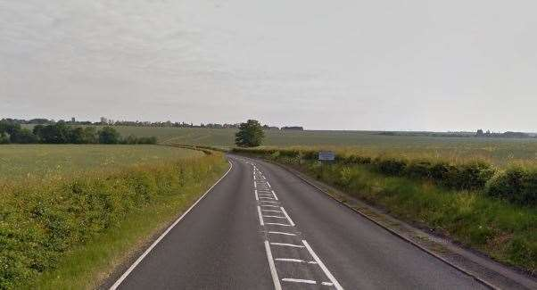 The car was stopped on the A28 in Sarre. Picture: Google street views (9794742)