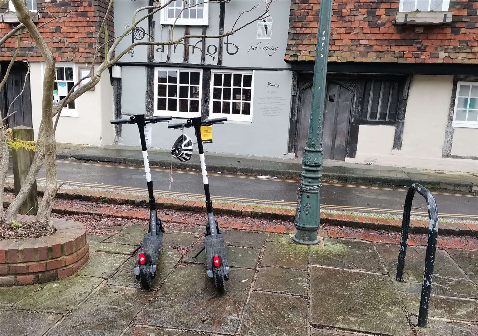 An electric scooter rental service is being trialled in Canterbury