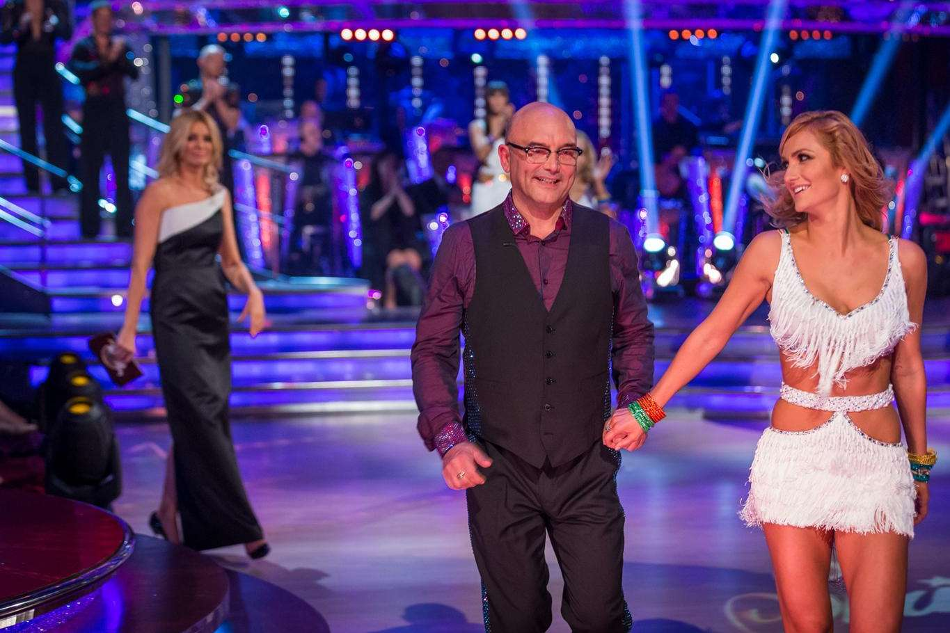 Gregg was paired with Aliona Vilani