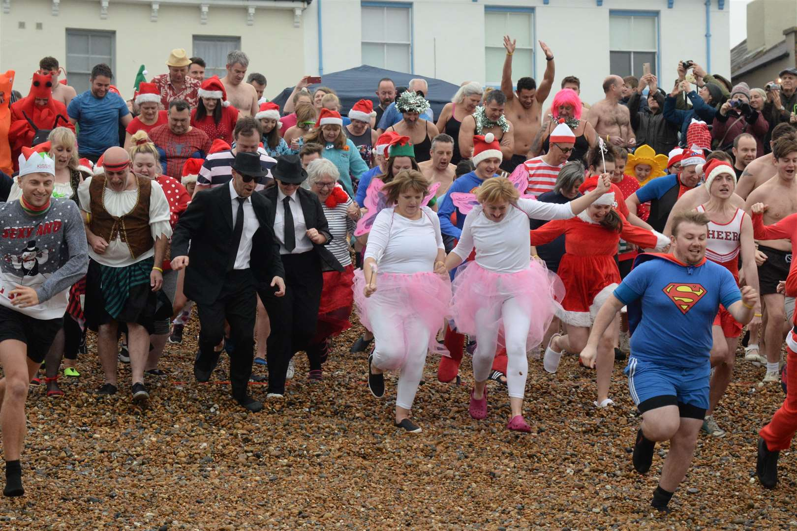 Hundreds are expected to take part in the Deal Boxing Day dip. Picture: Chris Davey