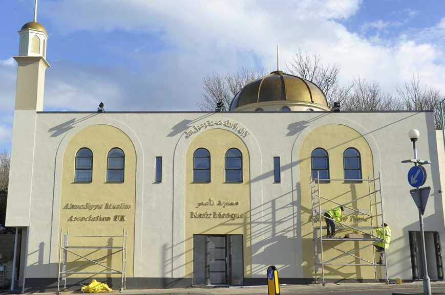 The final touches are done to the mosque in Richmond Road