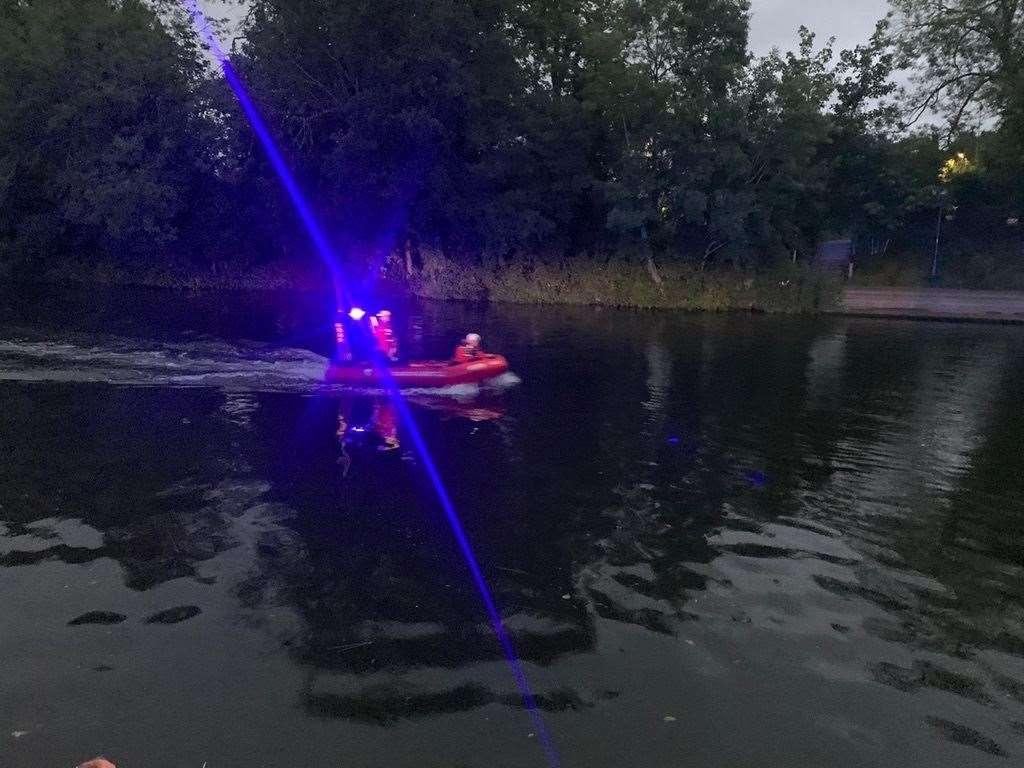 Kent Search & Rescue pulled the man from the river twice. Picture: KSAR