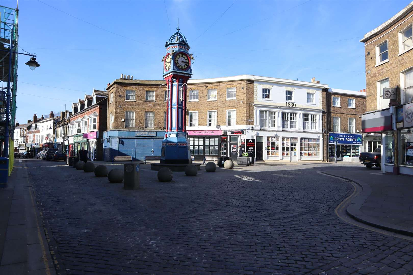 Sheerness town centre looking like a ghost town as a result of the coronavirus scare