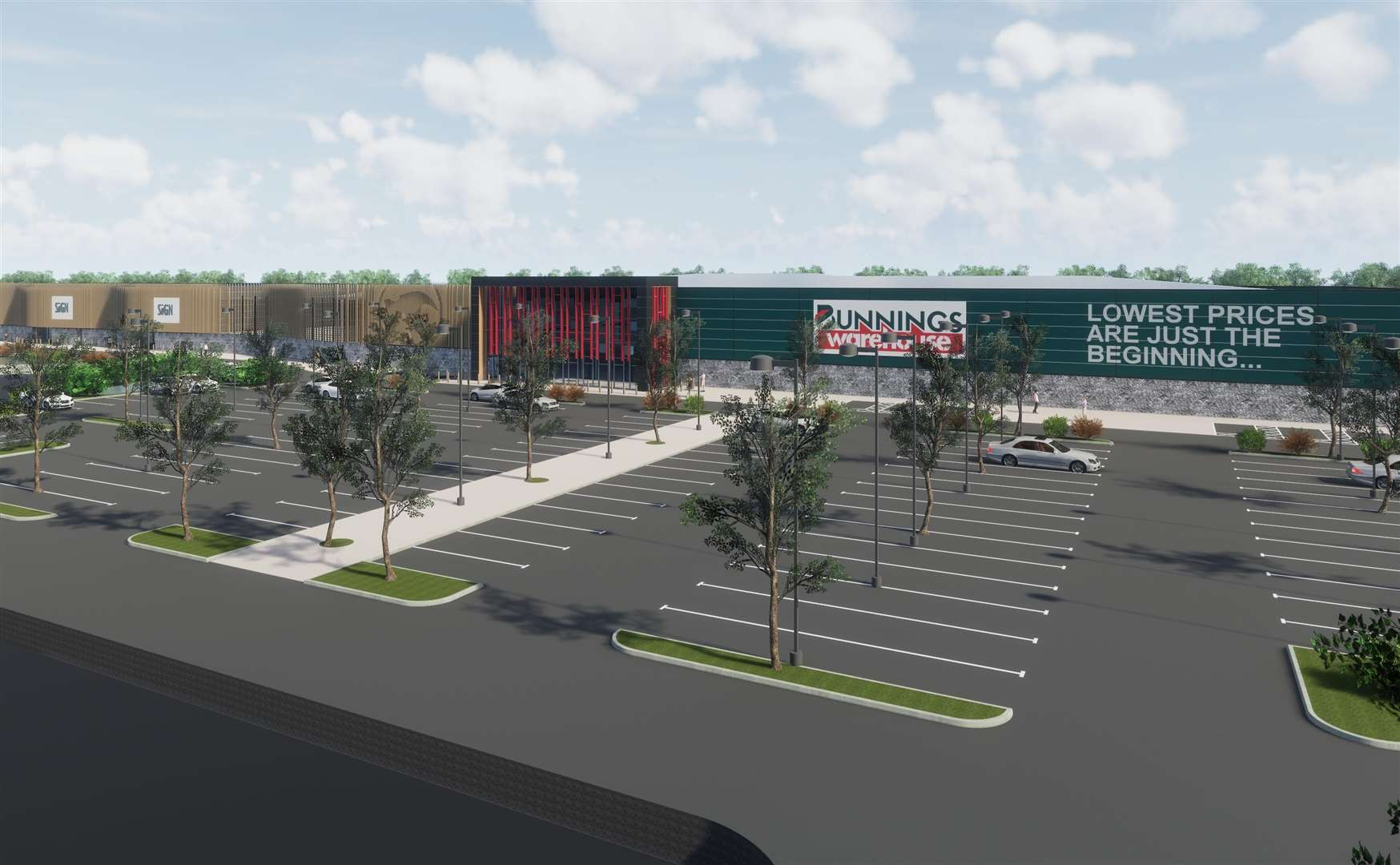 How the Bunnings store would have looked