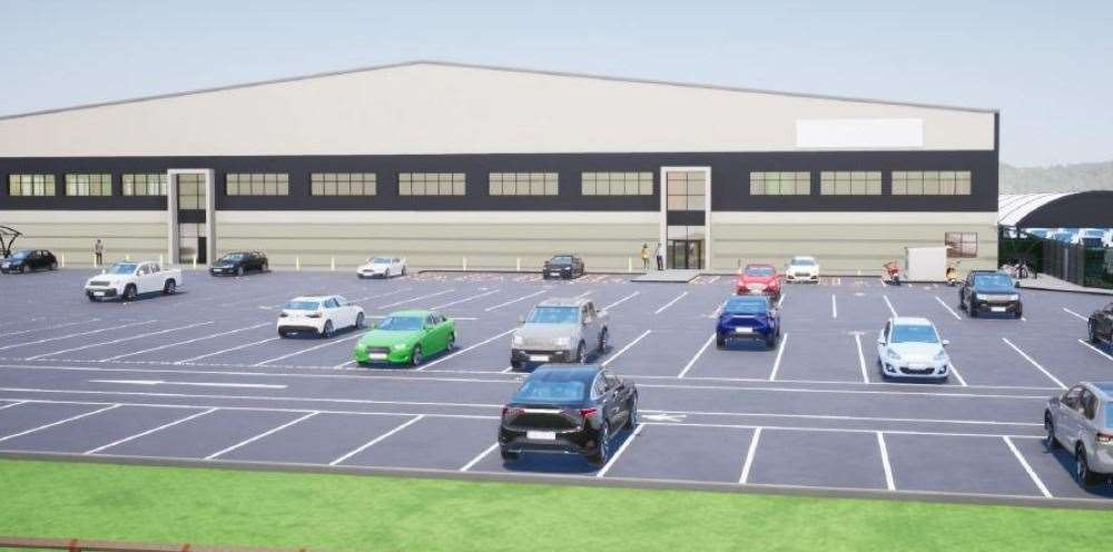 How the huge storage and distribution facility could look on Waterbrook Park