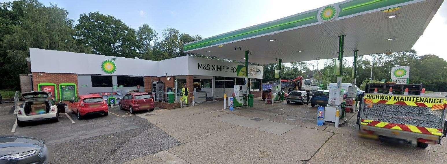 The Ashford Road BP petrol station has shut down its pumps due to a fuel shortage Photo: Google