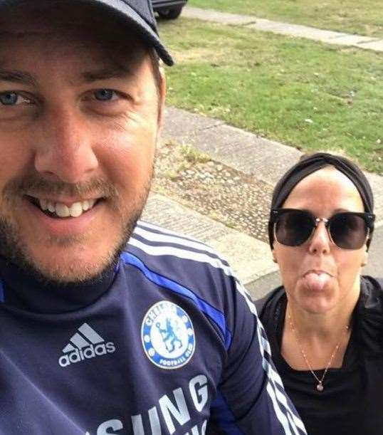 Friends Stewart Brown and Jo Lawton now cycle together to maintain their fitness following surgery
