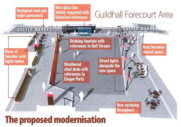 The Sandwich forecourt re-design which may or may not go ahead in time for The Open 2020