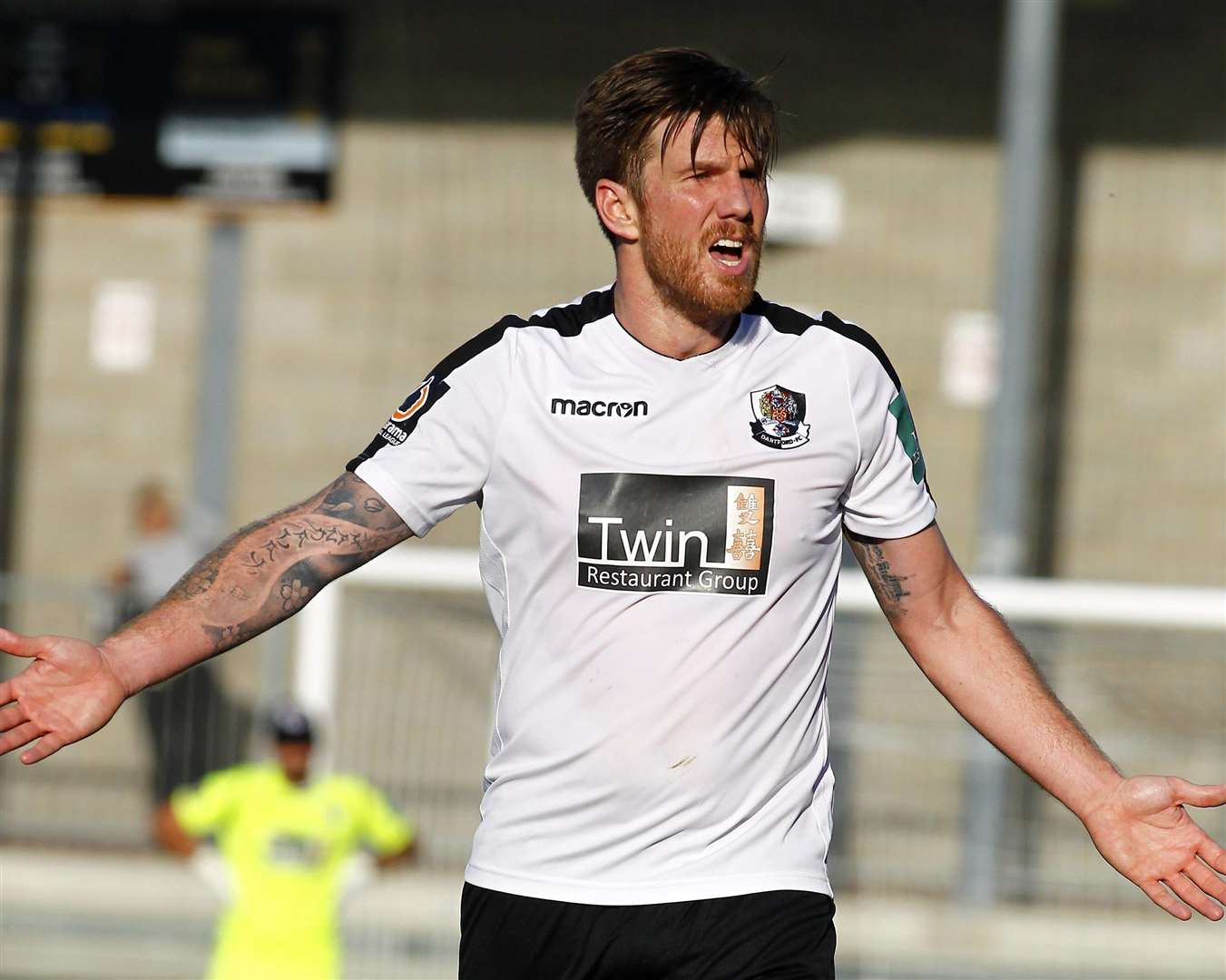 Elliot Bradbrook scored his 141st goal for Dartford on Saturday Picture: Sean Aidan