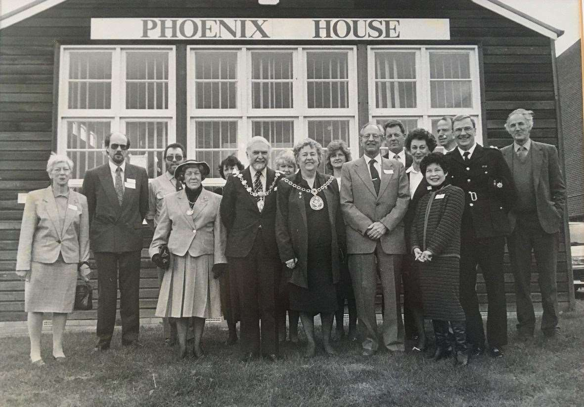 Photo taken on the official opening date in 1991, with local dignitaries and some of the founders of the project