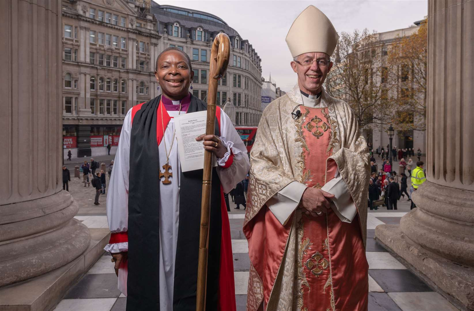 Rose Hudson-Wilkin with the Archbishop of Canterbury