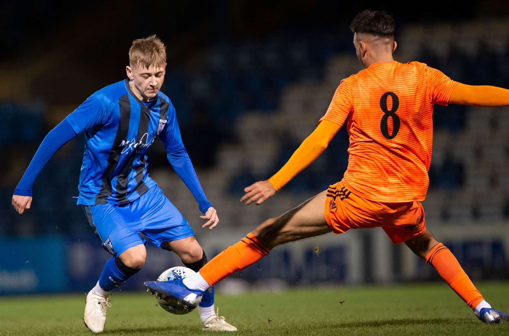 Jimmy Witt in FA Youth Cup action for Gills last season Picture: Ady Kerry
