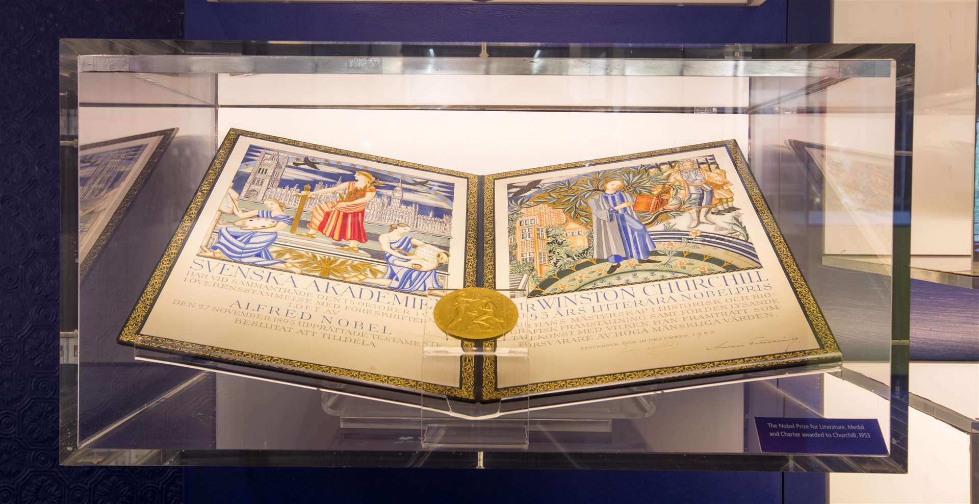The Nobel Prize for Literature on show at Chartwell. Picture: Ciaran McCrickard Photography