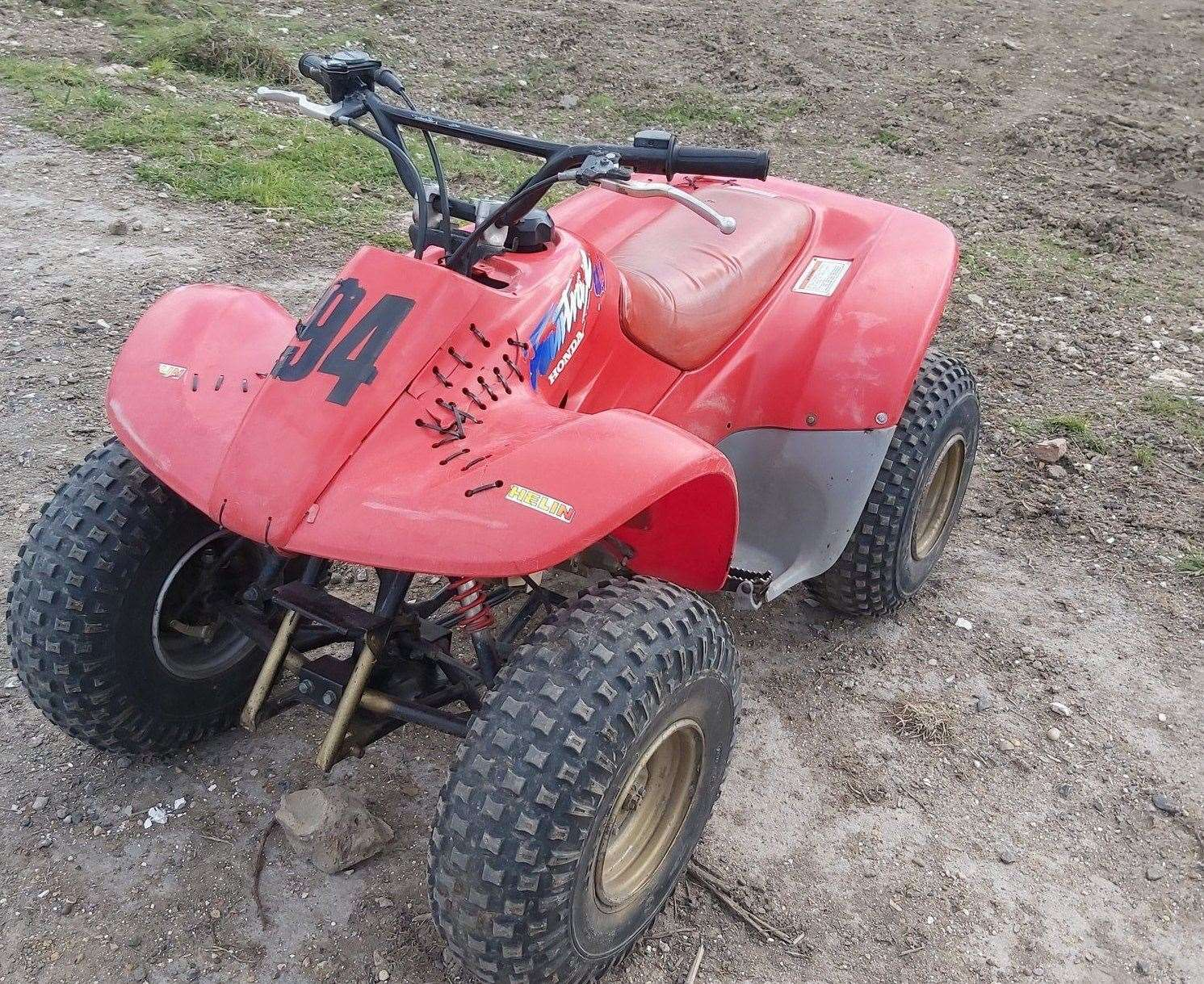 Dirt bikes and a quad bike were found being driven in Darenth Country Park leading to police to issue anti-social behaviour warnings to the riders. Picture: Kent Police