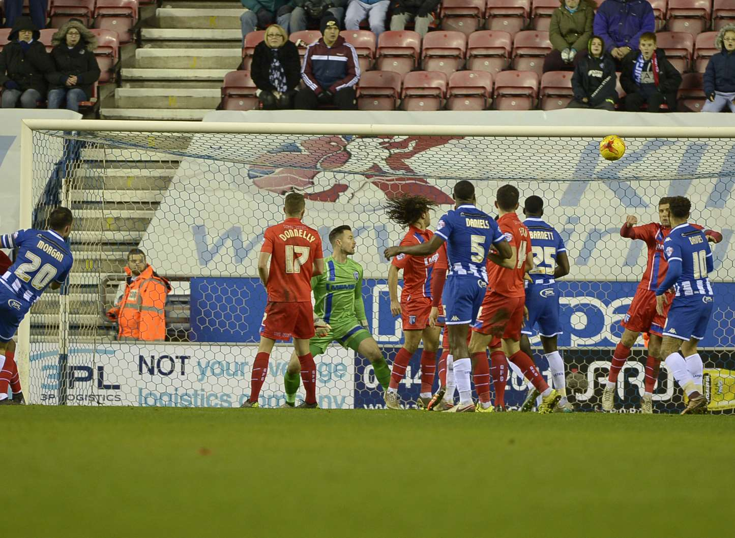 Wigan score their winner Picture: Barry Goodwin