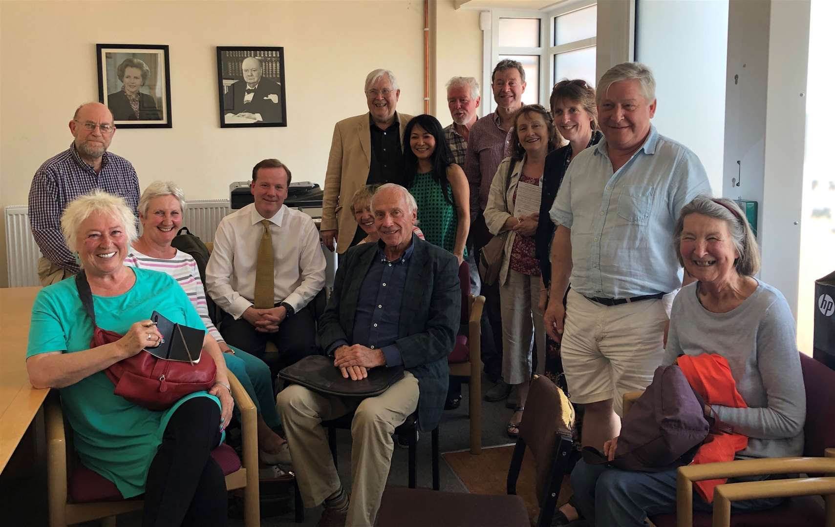 MP Charlie Elphicke met with members of Finglesham Fields campaign group who are hosting the meeting