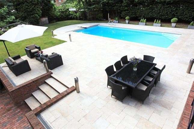 The property includes a swimming pool. Picture: Zoopla / Savills