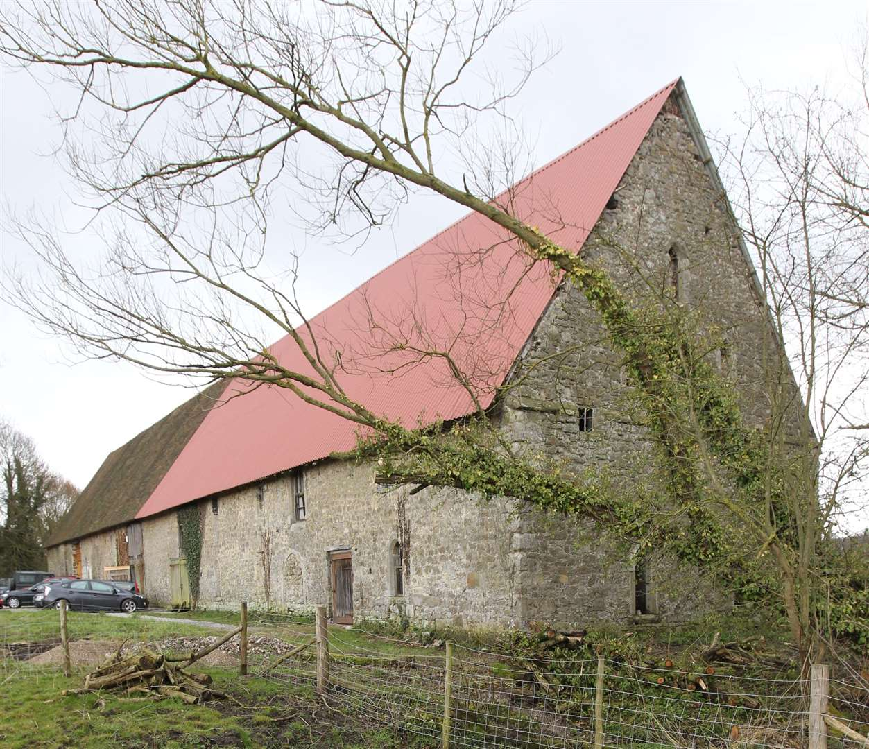 Boxley Abbey Barn in Sandling. Picture by: John Westhrop