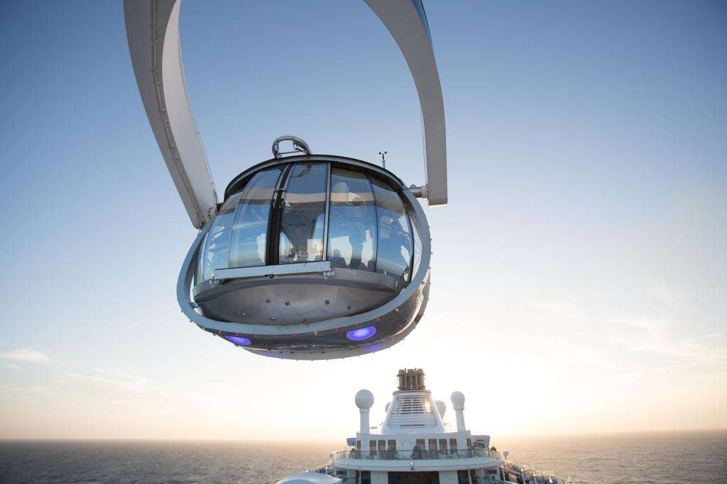 The North Star pod on Royal Carribean's Quantum of the Seas