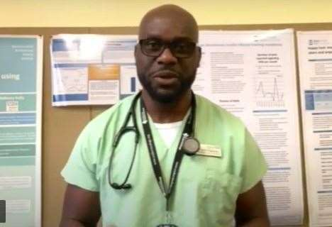 Dr Victor Oguntolu, consultant in diabetes and endocrinology at Medway hospital, has been dispelling myths about the Covid-19 vaccines to encourage take up among the BAME communities (44678969)