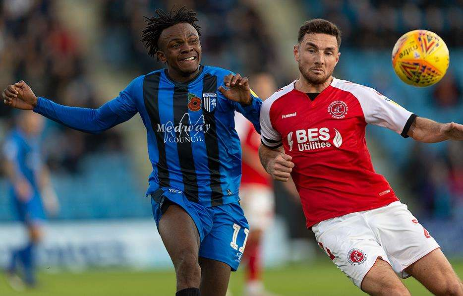 Gillingham's Regan Charles-Cook gives chase against Fleetwood. Picture: Ady Kerry