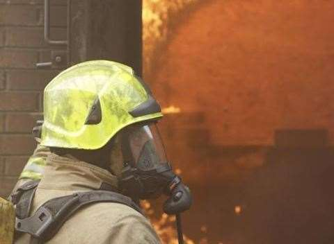 Fire crews remain at the scene. Pic: Stock image