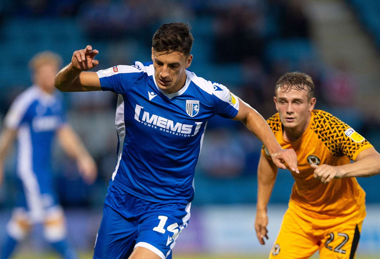 Alfie Jones on the ball for Gillingham against Newport Picture: Ady Kerry