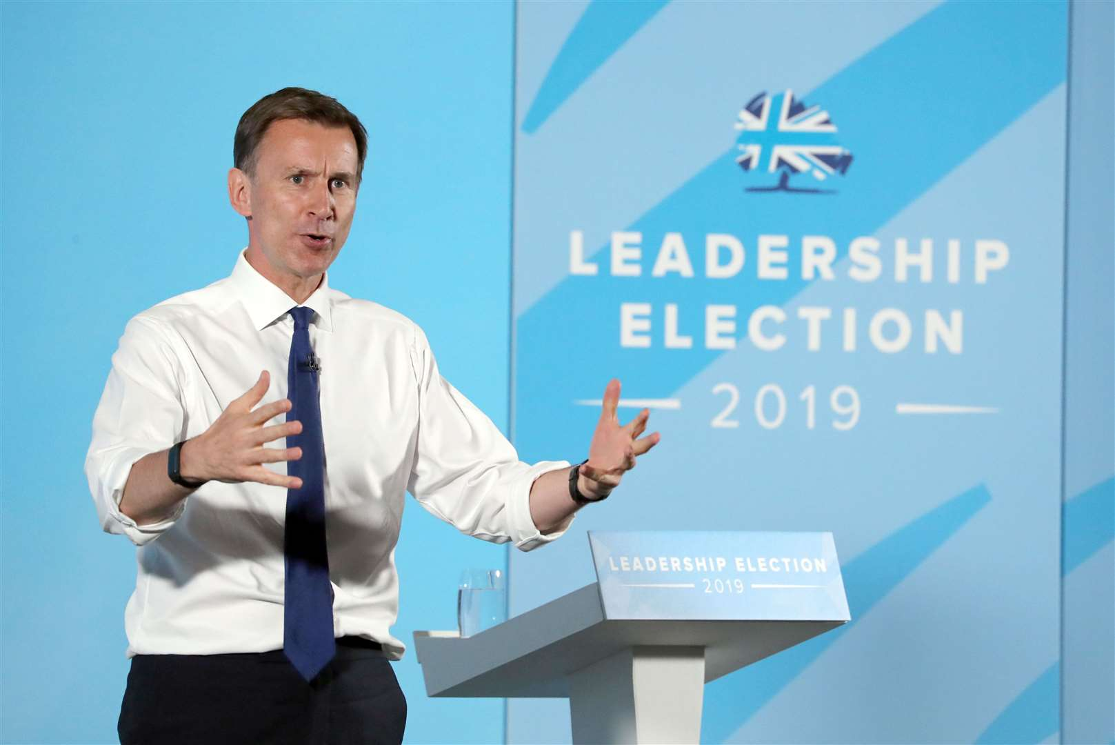 Jeremy Hunt at the hustings in Maidstone. Picture: Gareth Fuller/PA Wire