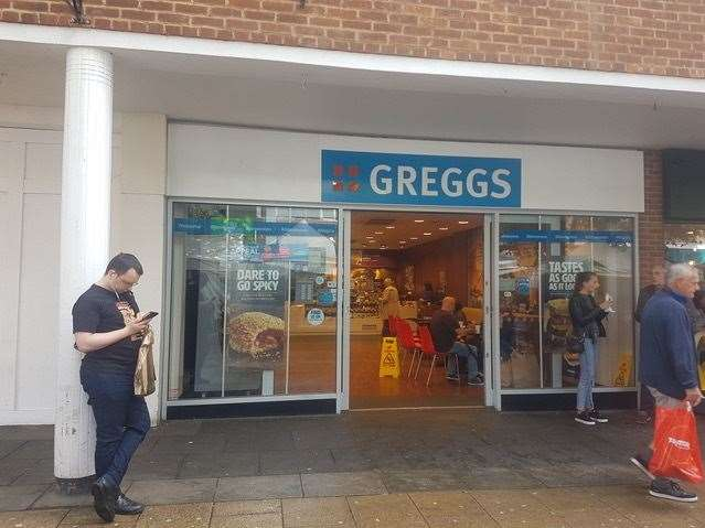 Sharleen was served the sausage roll at the Canterbury branch of Greggs