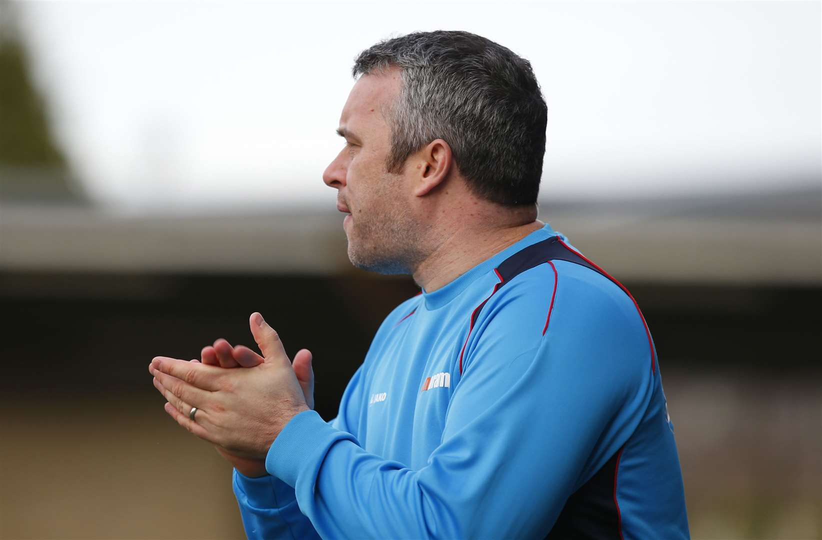 Dartford joint-manager Adam Flanagan Picture: Andy Jones