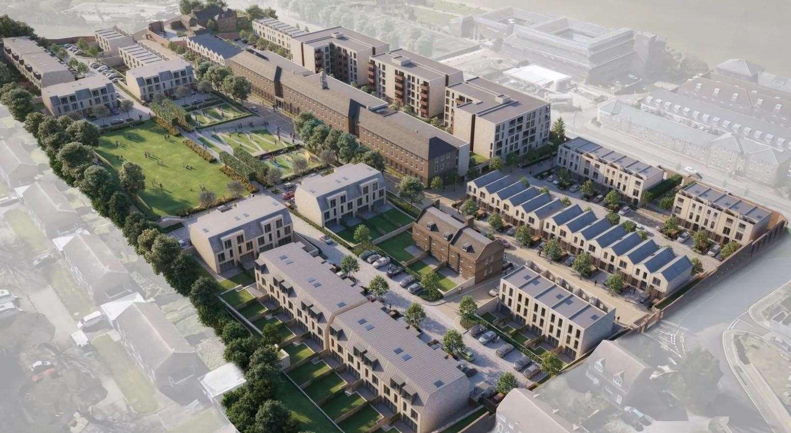 CGI of the Kitchener Barracks development. Picture: Zoopla / Kitchener Barracks