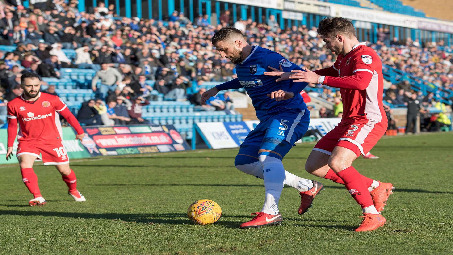 Max Ehmer in possession for the Gills Picture: Andy Payton