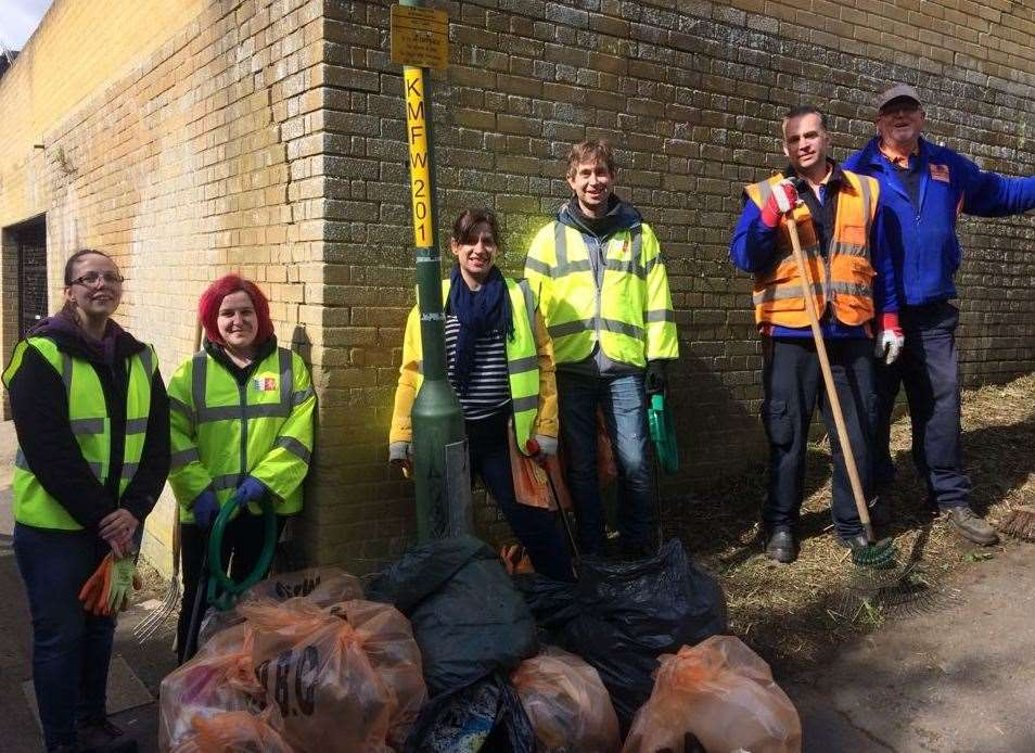 Volunteers have already been out collecting litter in Maidstone