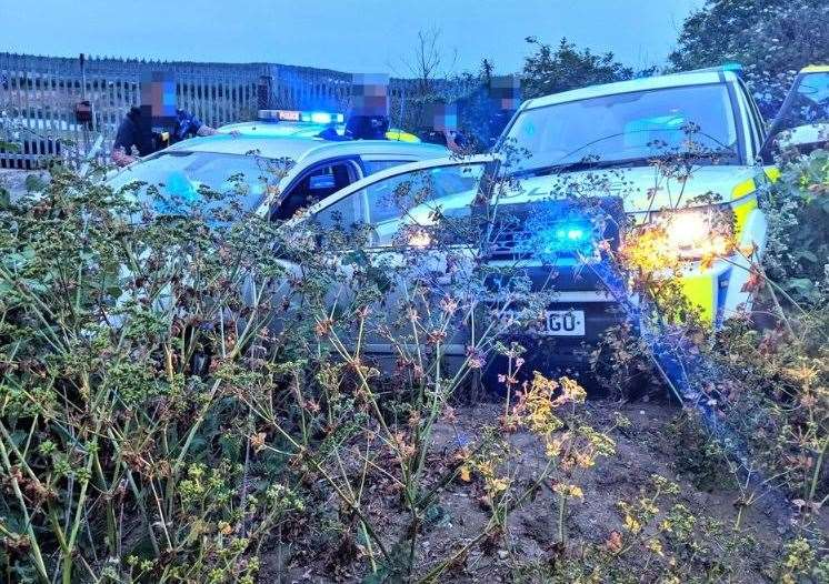 The car eventually came to halt in a hedge