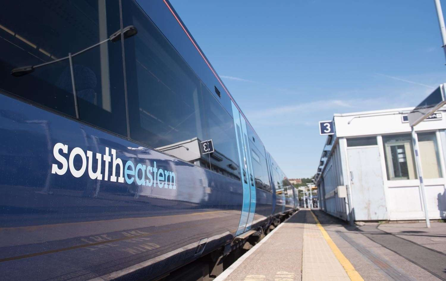 A train from the South-East.  Image bank