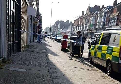 A shop in Cliftonville has been taped off. Picture: Samantha Parker (10011257)
