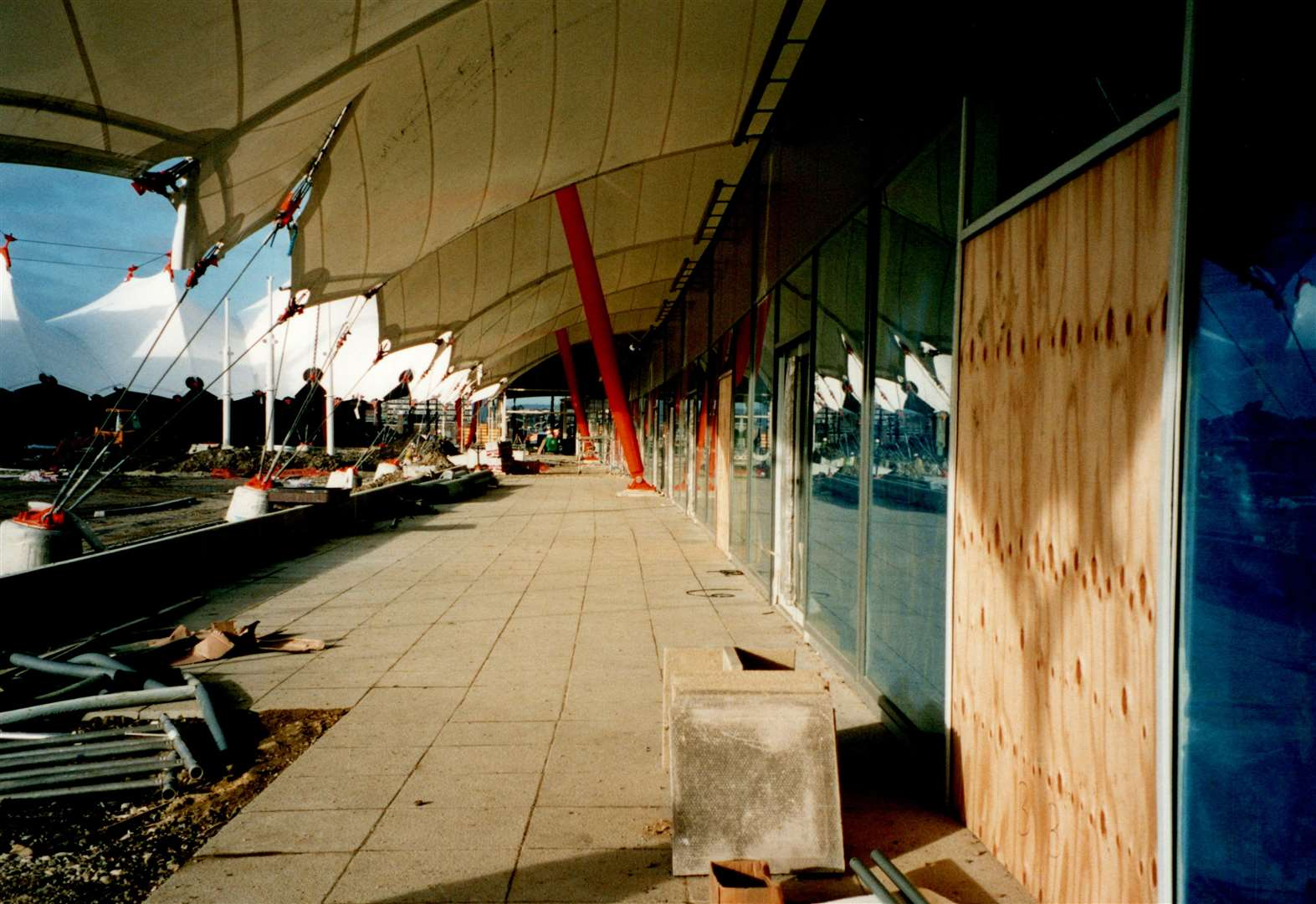 Construction work at the site before it opened in March 2000. Picture: Steve Salter