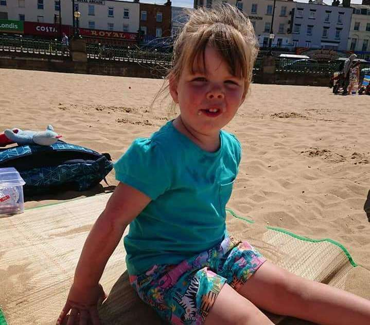 Elana Lamb's pushchair has enabled her to enjoy trips to the beach