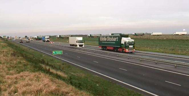 Lorries leaving Manston this morning(6341147)