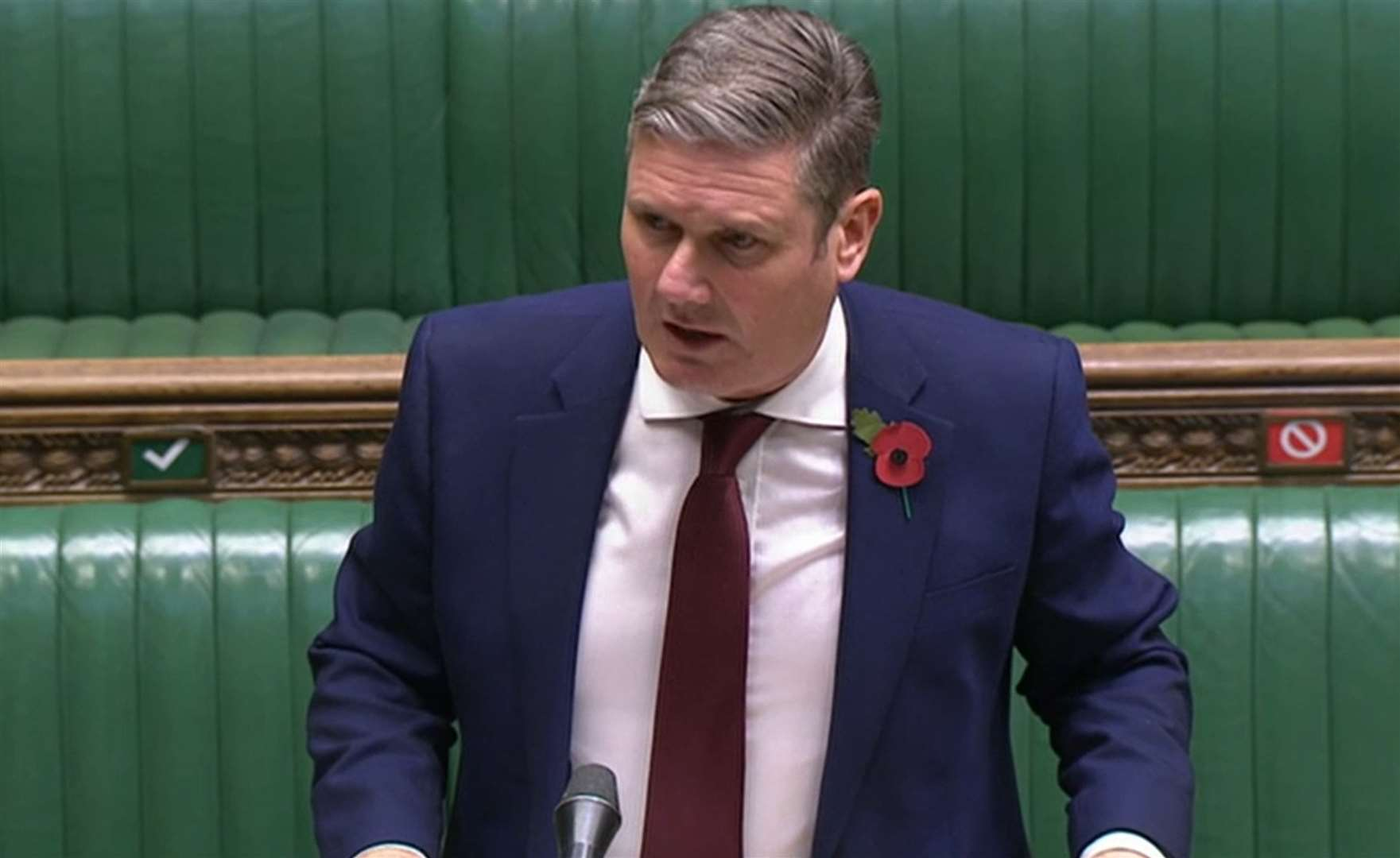 Sir Keir Starmer blamed the Chancellor for blocking earlier calls for a shorter circuit-breaker (PA)