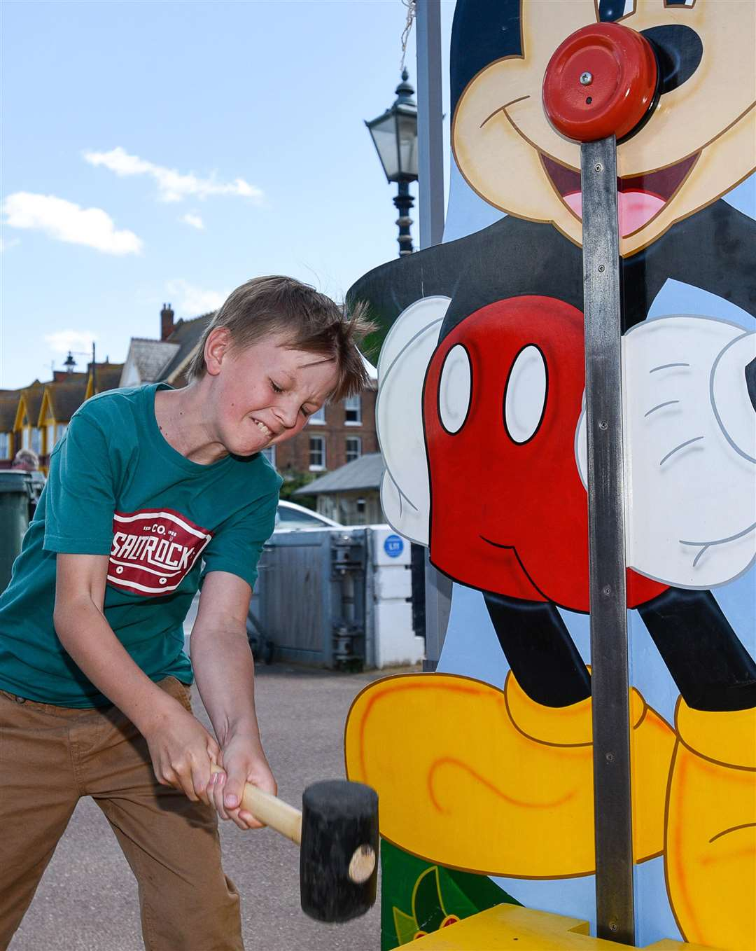 There's more seaside fun with BayFest. Jacob Westwood has a go at the beach fun day Picture: Alan Langley