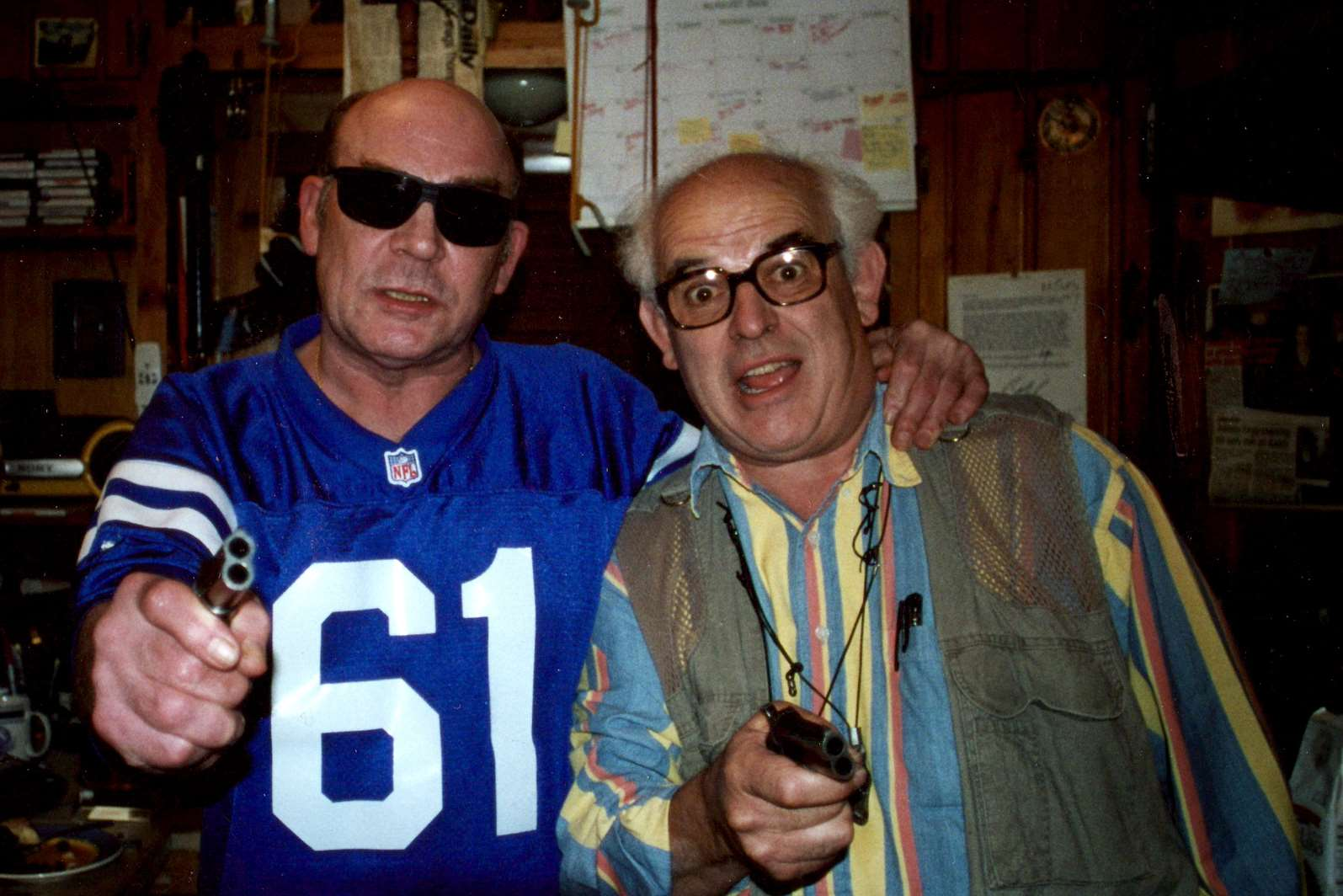 Illustrator Ralph Steadman, right, with Hunter S Thompson, author of Fear and Loathing in Las Vegas