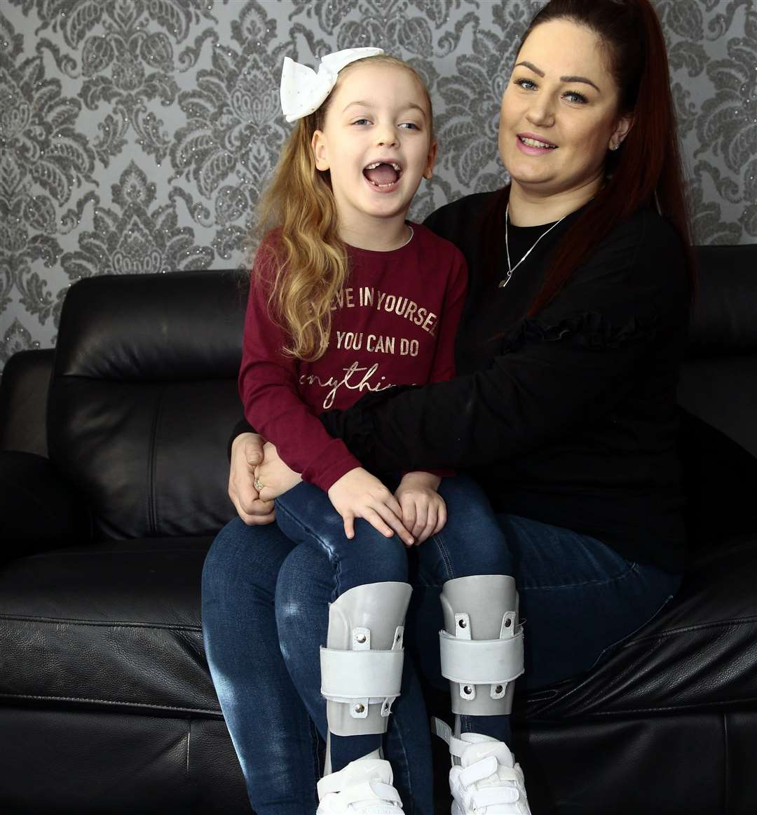 Lily-Mae Leadsham, 6, underwent life-changing surgery last year and is now able to dance, much to the delight of mum Kerry