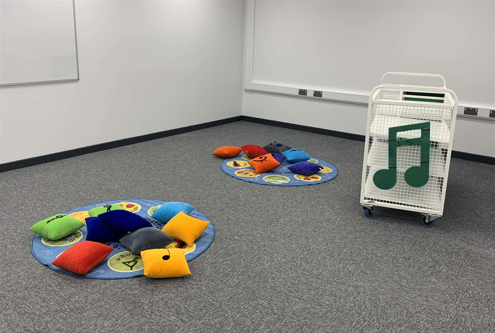 Some equipment has already started to arrive for the school's music room