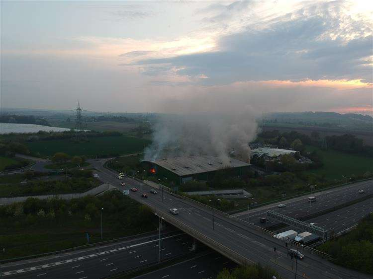An aerial view of the fire, which broke out in April, Picture: Matt Joners
