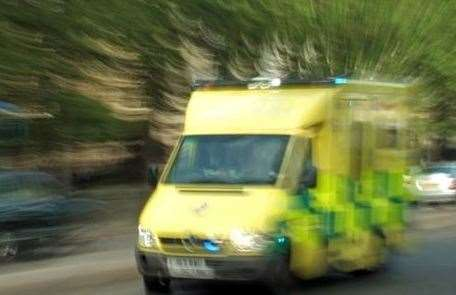 Ambulance crews were called to the man who collapsed in Rosemary Avenue, Halfway