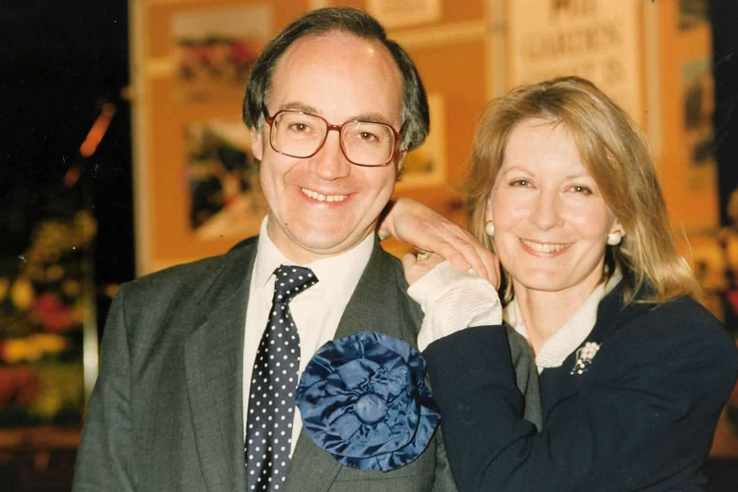 Sandra and Michael Howard in 1992