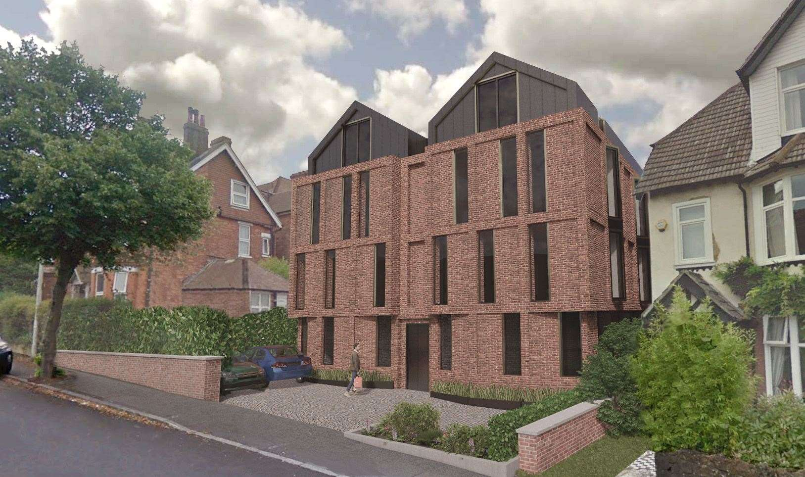 A second application seeks permission to build flats in Radnor Park Road. Picture: Hollaway